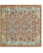 Bridgeport Home Malin Mal6 Green 8' x 8' Square Area Rug